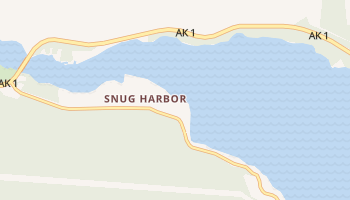 Snug Harbor, Alaska map