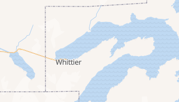 Whittier, Alaska map