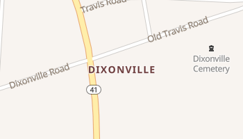 Dixonville, Alabama map