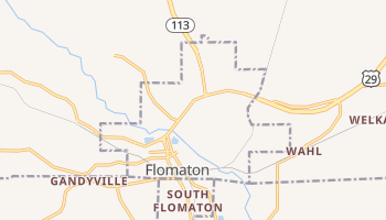 Flomaton, Alabama map