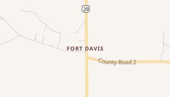 Fort Davis, Alabama map