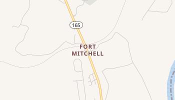Fort Mitchell, Alabama map