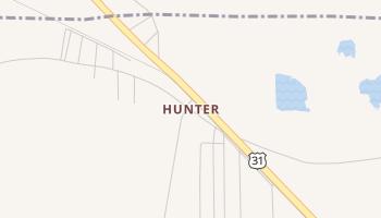 Hunter, Alabama map