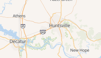 Huntsville, Alabama map