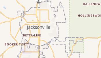 Jacksonville, Alabama map