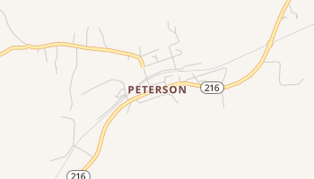 Peterson, Alabama map