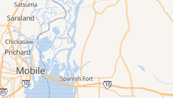 Spanish Fort, Alabama map