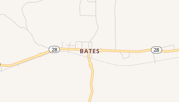 Bates, Arkansas map