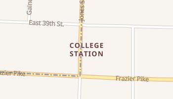 College Station, Arkansas map