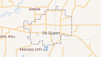 De Queen, Arkansas map