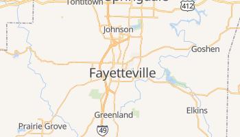 Fayetteville, Arkansas map