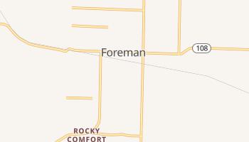 Foreman, Arkansas map