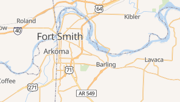 Fort Smith, Arkansas map