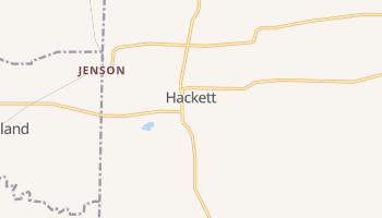 Hackett, Arkansas map