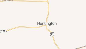 Huntington, Arkansas map