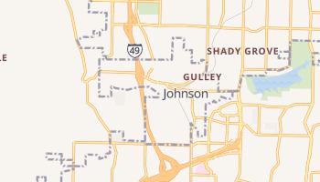 Johnson, Arkansas map