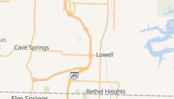 Lowell, Arkansas map