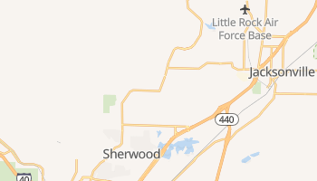 Sherwood, Arkansas map