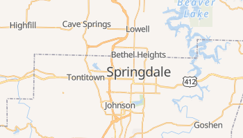 Springdale, Arkansas map