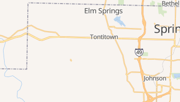 Tontitown, Arkansas map
