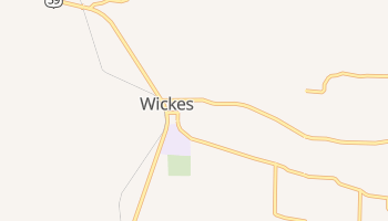 Wickes, Arkansas map