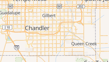 Gilbert, Arizona map