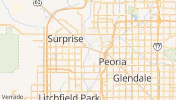 Glendale, Arizona map