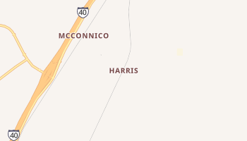 Harris, Arizona map