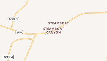 Steamboat Canyon, Arizona map