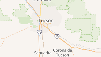 Tucson, Arizona map