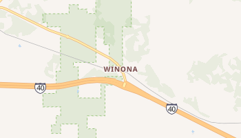 Winona, Arizona map