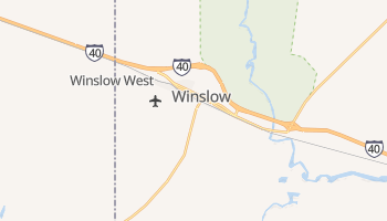 Winslow, Arizona map