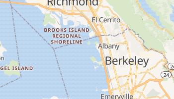 Albany, California map