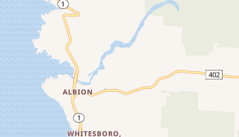 Albion, California map