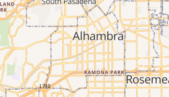 Alhambra, California map
