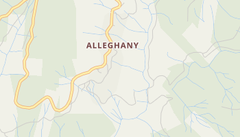 Alleghany, California map