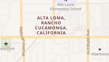 Alta Loma, California map