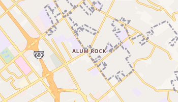 Alum Rock, California map