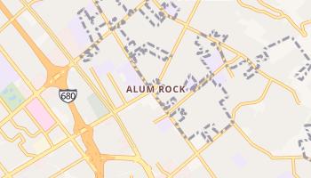 Alum Rock, California map
