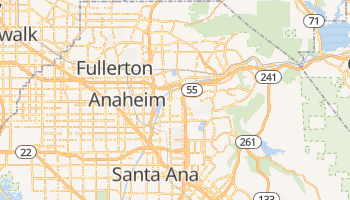 Anaheim, California map