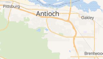 Antioch, California map