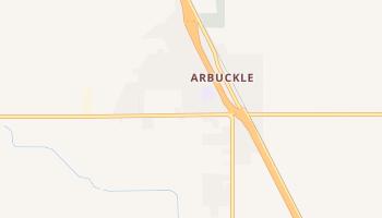 Arbuckle, California map