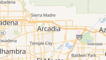 Arcadia, California map