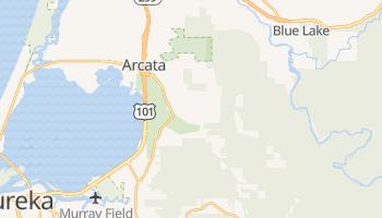 Arcata, California map
