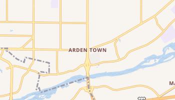 Arden Town, California map