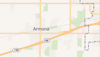 Armona, California map