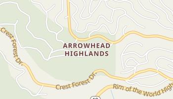 Arrowhead Highlands, California map