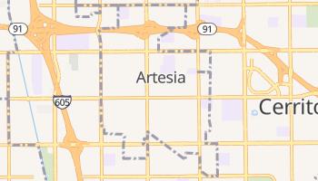 Artesia, California map