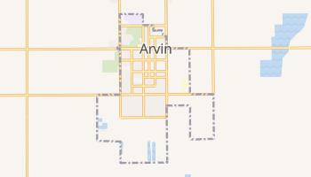 Arvin, California map