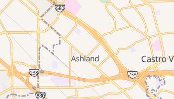 Ashland, California map